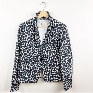 Kate Spade Leopard Print Silk Blazer Size 6